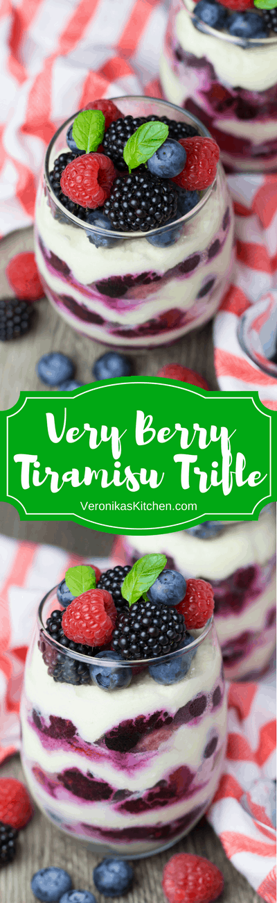 Very Berry Tiramisu Trifle