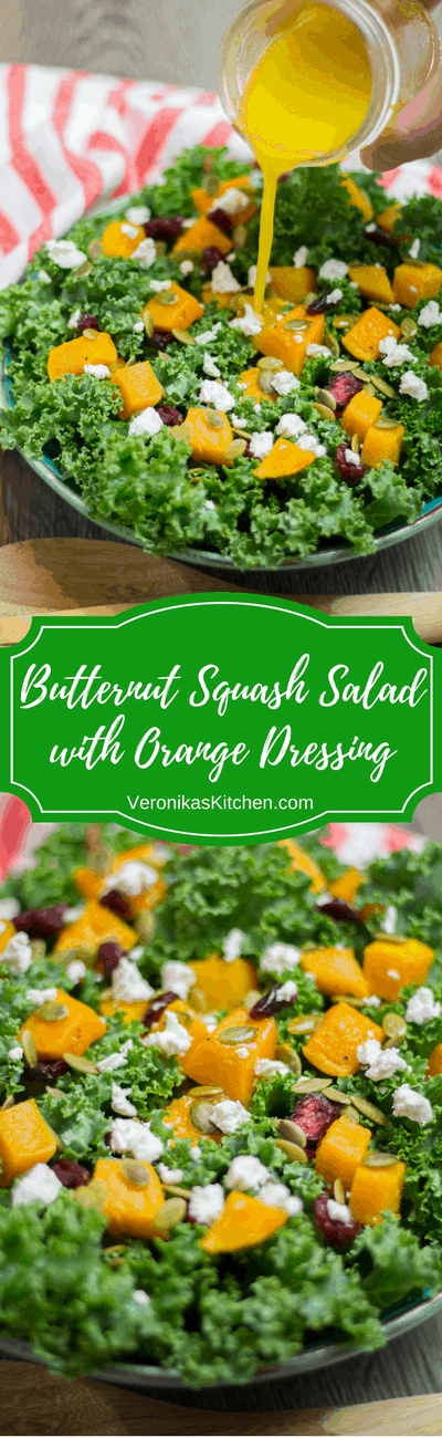 Butternut Squash Salad with Orange Dressing is a perfect healthy fall recipe that is packed with nutrients.