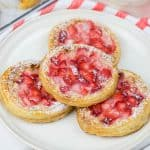 Pastries with Cream Cheese and Strawberries are a quick and easy breakfast idea for your weekend. Only 4 ingredients, puff pastry, cream cheese, strawberries, and strawberry jam, will make your breakfast special.