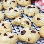 Soft and chewy Cranberry White Chocolate Chip Cookies is a perfect recipe for the holiday season. Easy to make, they will be a great treat for your kids and family.