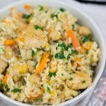 Instant Pot Rice Pilaf with Chicken and Vegetables