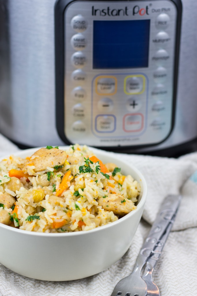 Instant Pot Chicken and Rice Pilaf recipe is perfect comfort food that is full of flavor and easy to make. This All-in-One-Pot meal will be ready in under 30 minutes.