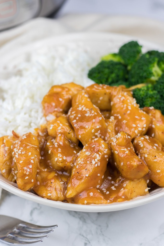 Instant Pot Orange Chicken Recipe Veronika S Kitchen