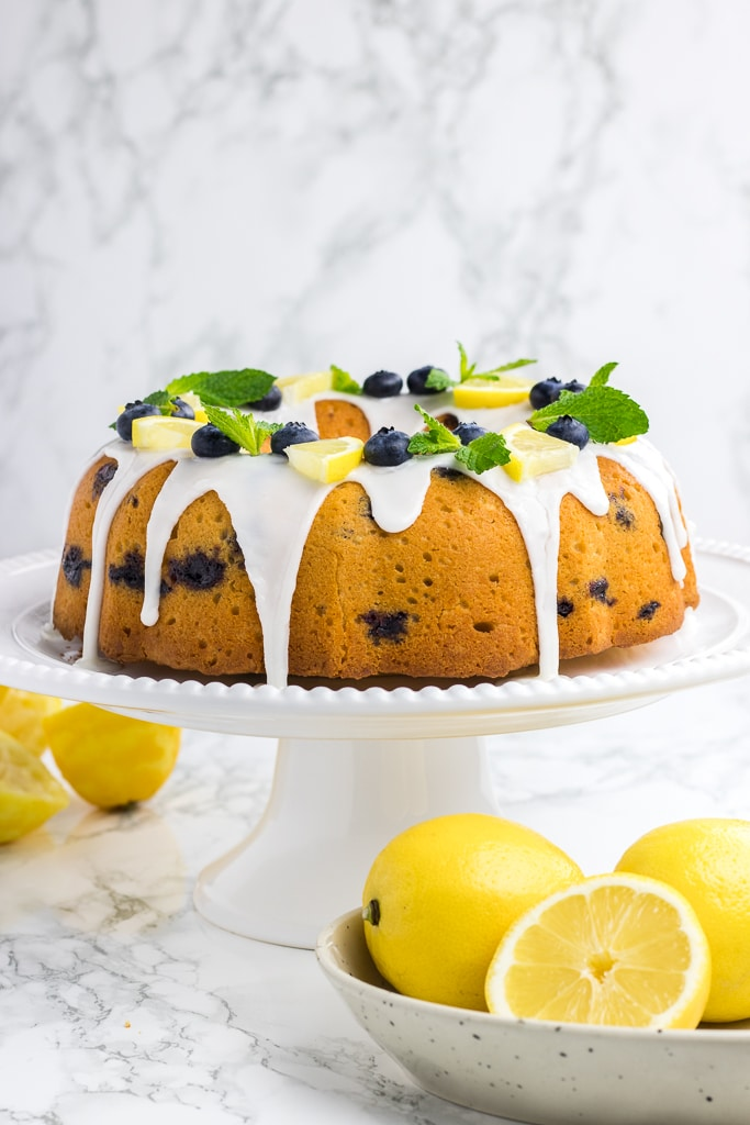 Lemon Blueberry Bundt Cake is a great summer dessert idea that is easy to make from scratch.