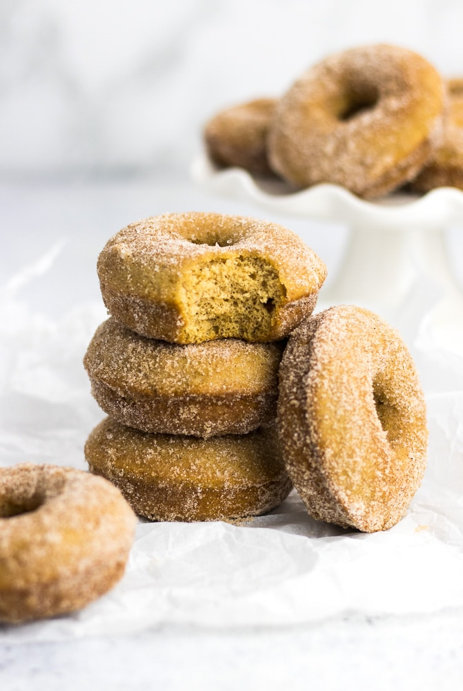 Apple Cider Baked Donuts are easy to make cake donuts baked in a donut pan. This is a perfect Fall dessert recipe!