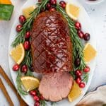 Brown Sugar Maple Glazed Ham is the best traditional recipe to celebrate Christmas and the Holiday Season!