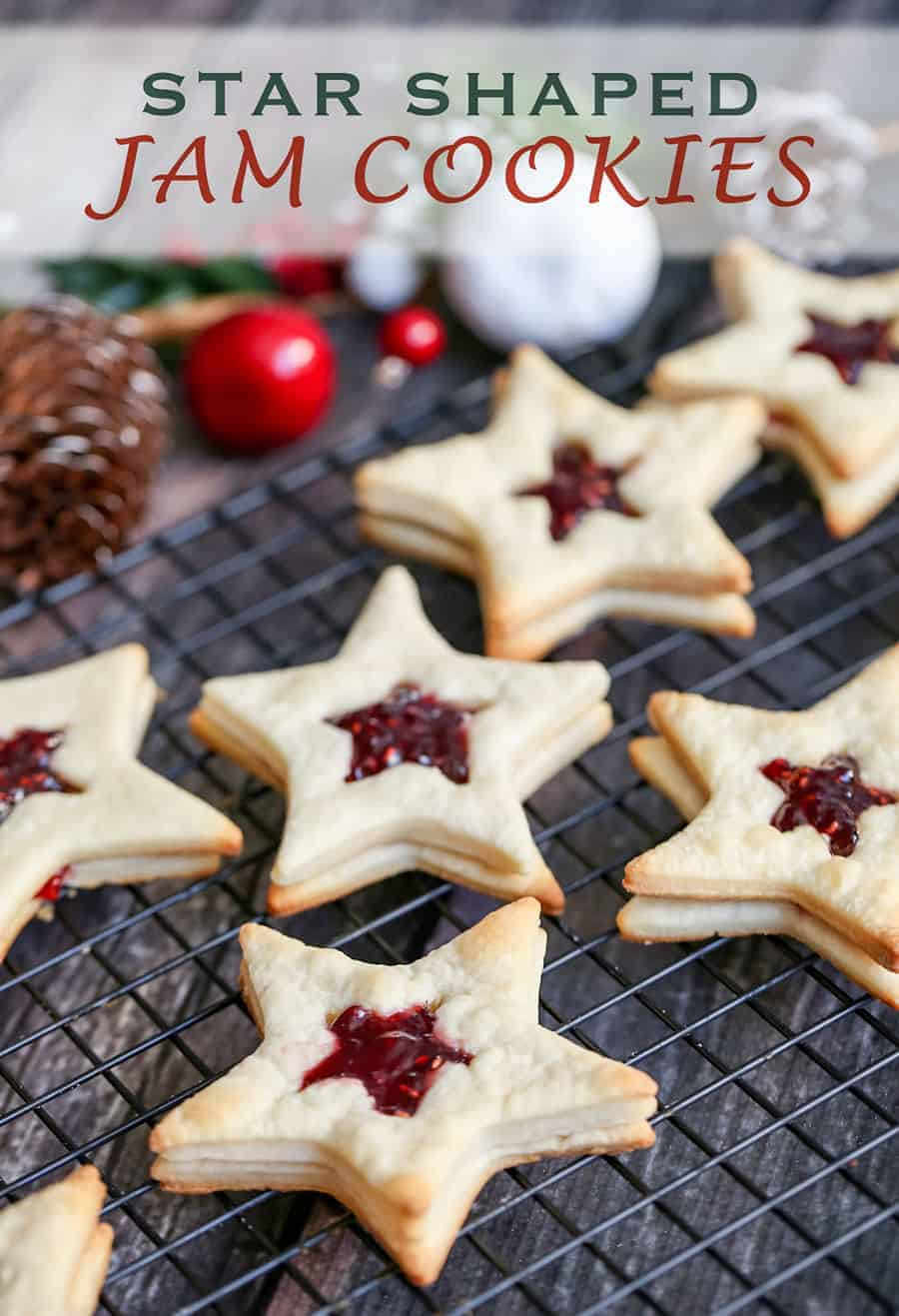 Star-Shaped Jam Cookies
