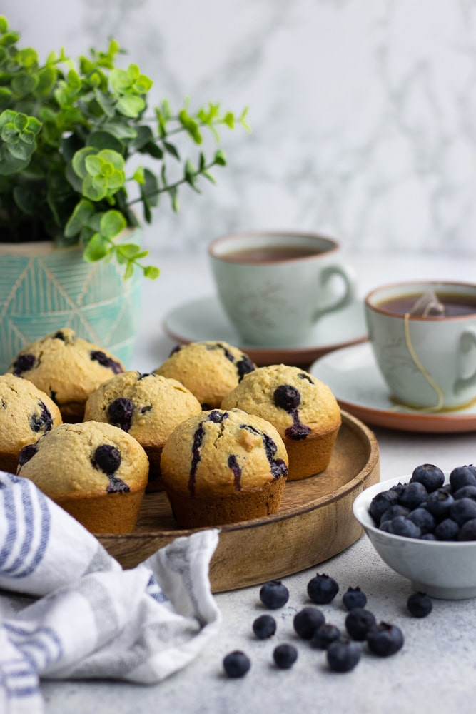 "Healthy Oatmeal Blueberry Muffins are the best nutritious treat for breakfast, dessert, or just a snack. Made with no refined sugar, these ""grab and go"" muffins easy to make and super delicious!"