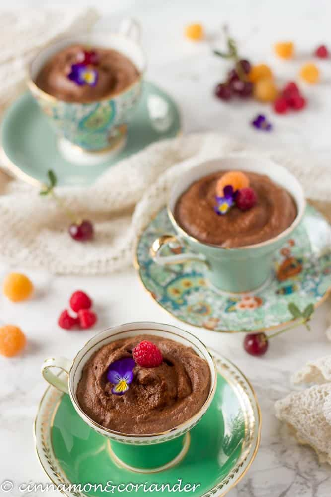 Aquafaba Chocolate Mousse (Vegan and Sugar Free)