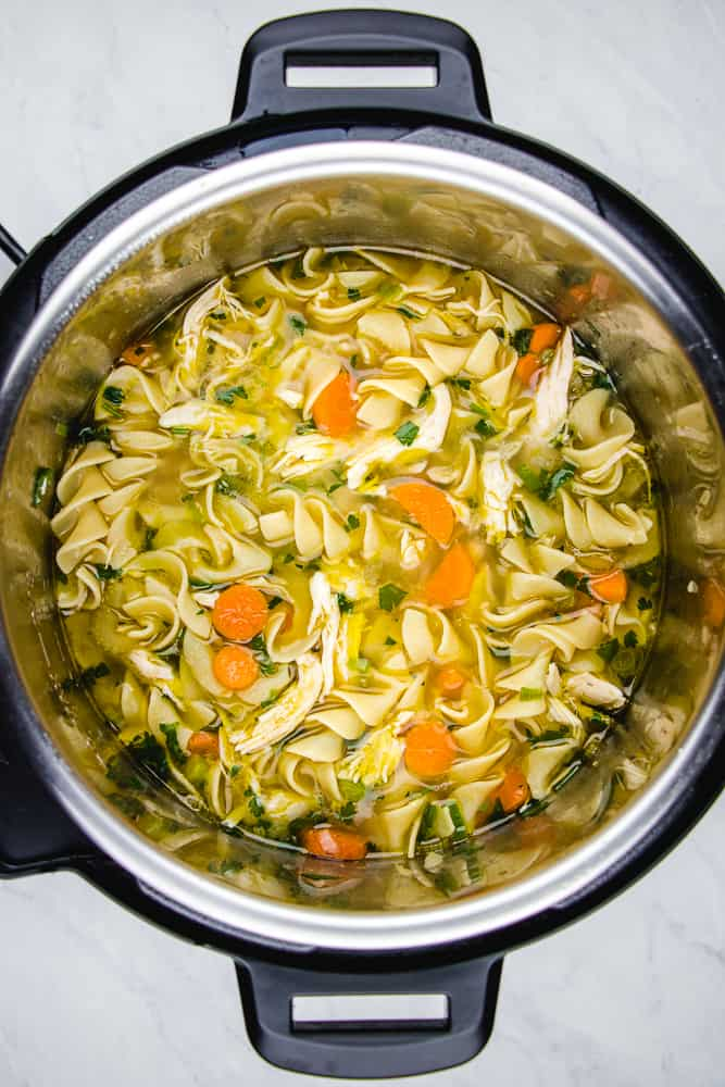 Chicken Noodle Soup in instant pot.