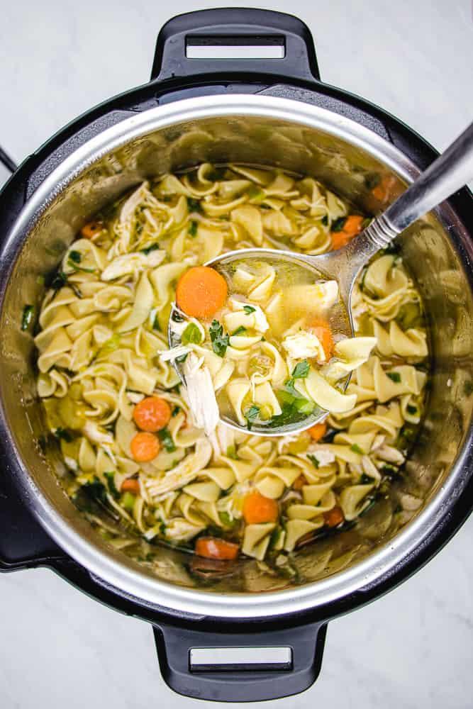 Chicken Noodle Soup in instant pot.