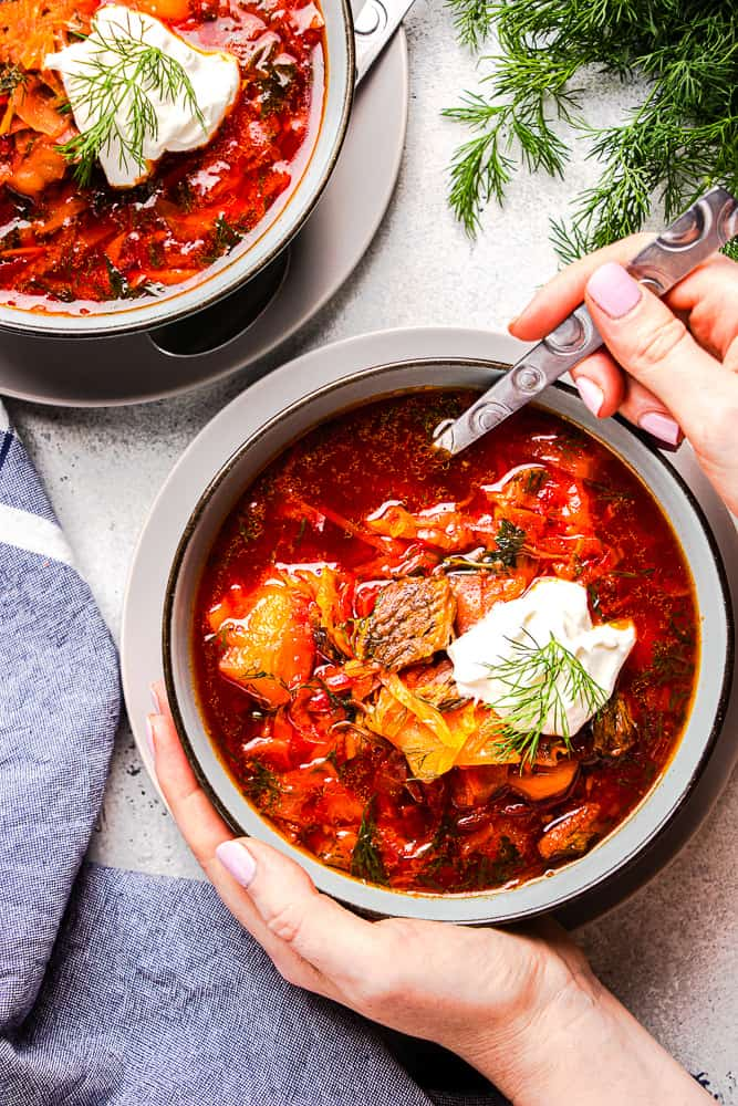 Borscht Soup With Beef Veronika S Kitchen