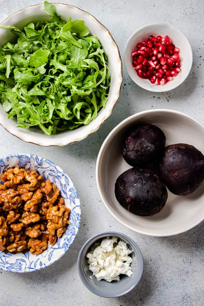 Ingredients for Roasted Beet Salad Recipe