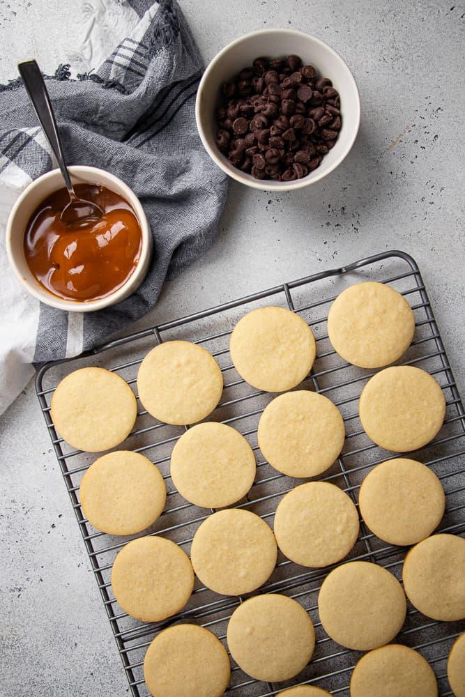 process photo of Twix Cookies