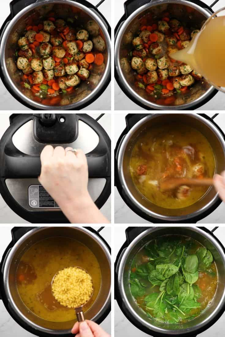 process photos of how to make Italian Soup in Instant Pot.