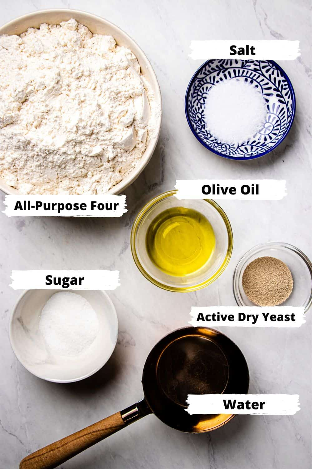 Ingredients for Pizza Dough.