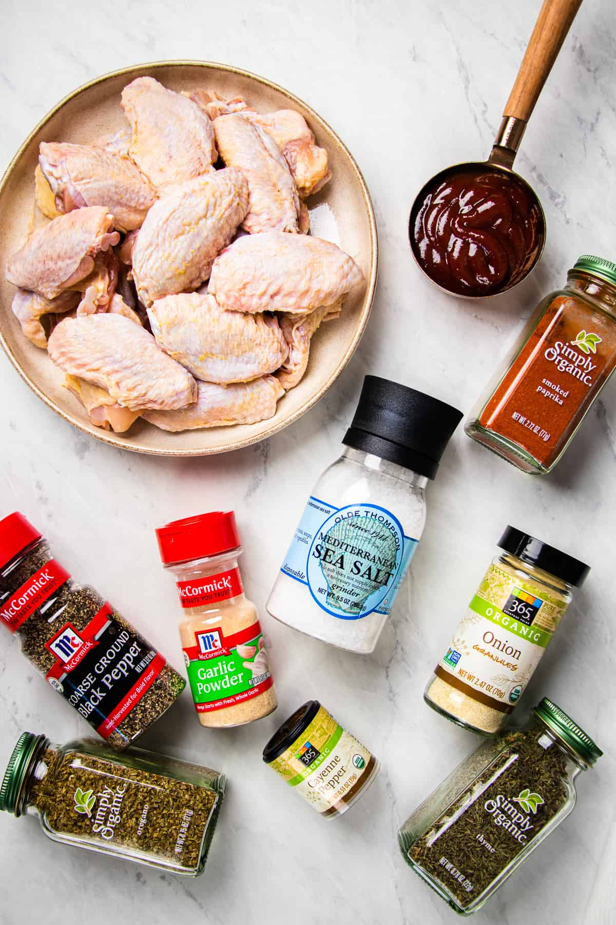 Ingredients for Instant Pot Chicken Chings recipe.