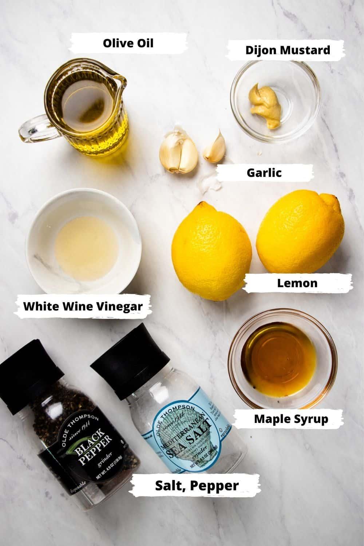 Ingredients for Lemon Vinaigrette.