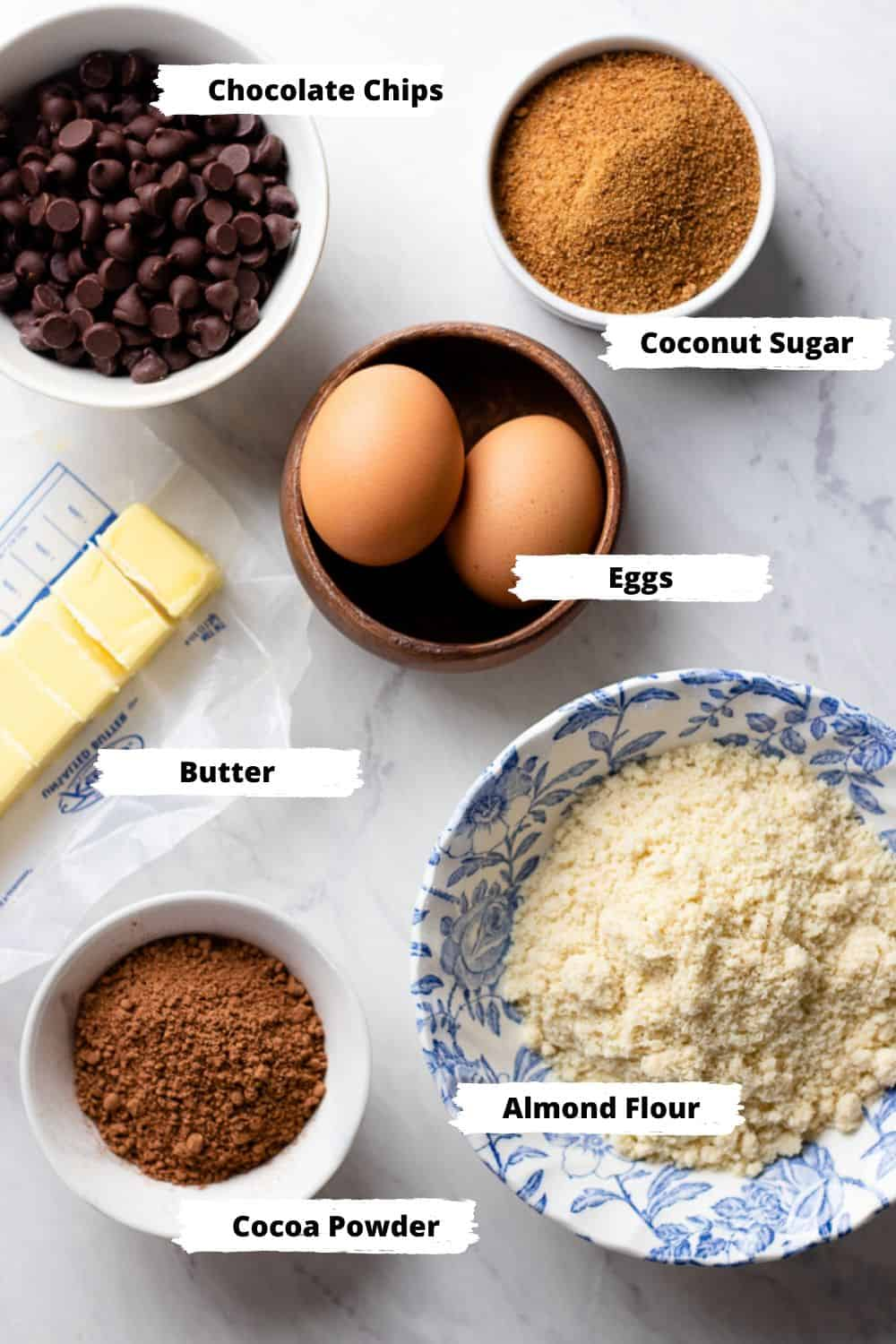 ingredients for brownies.