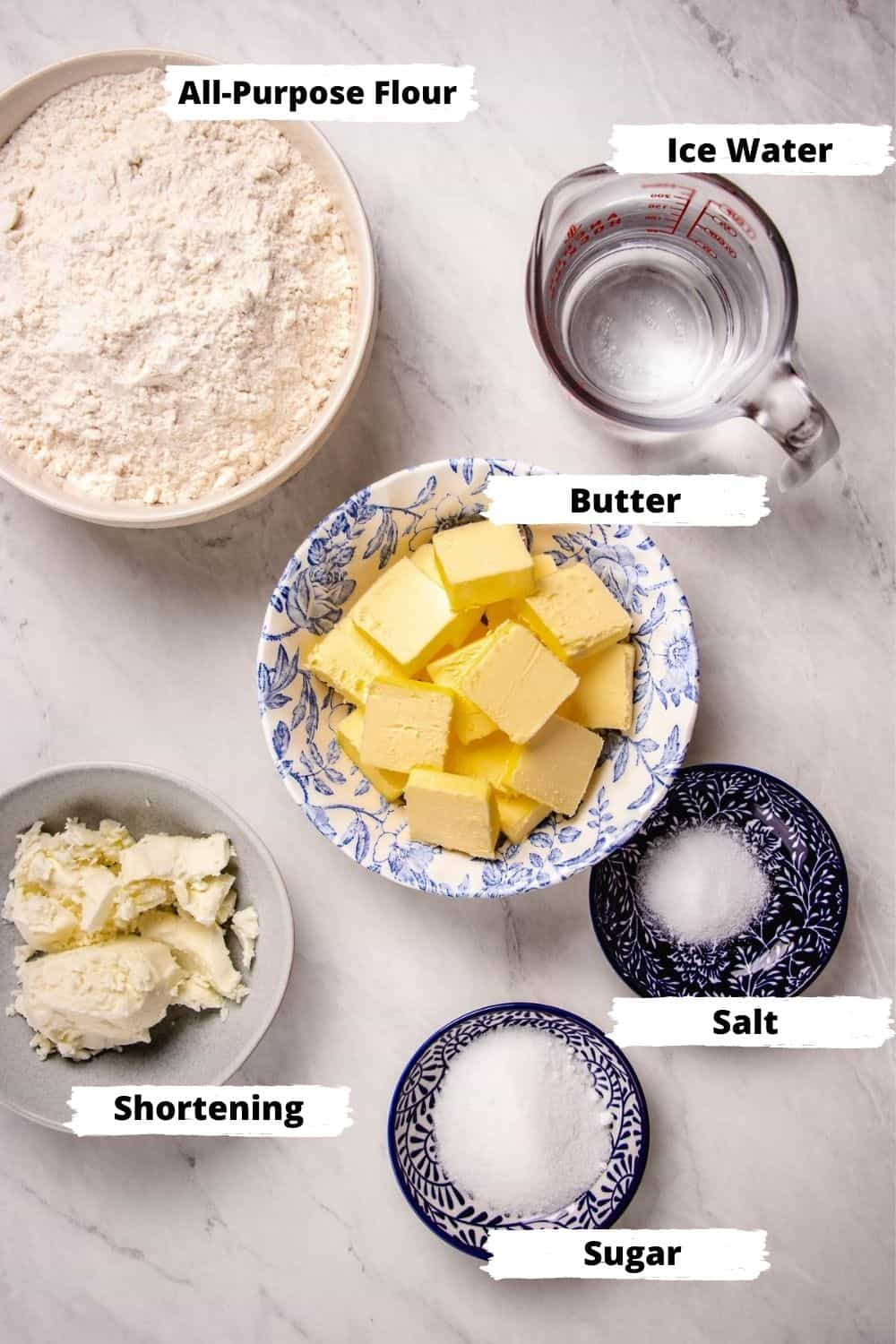 Ingredients for Pie Crust,