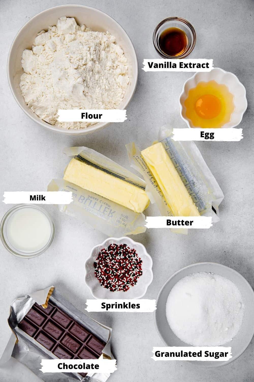 Ingredients for Danish Butter Cookies .