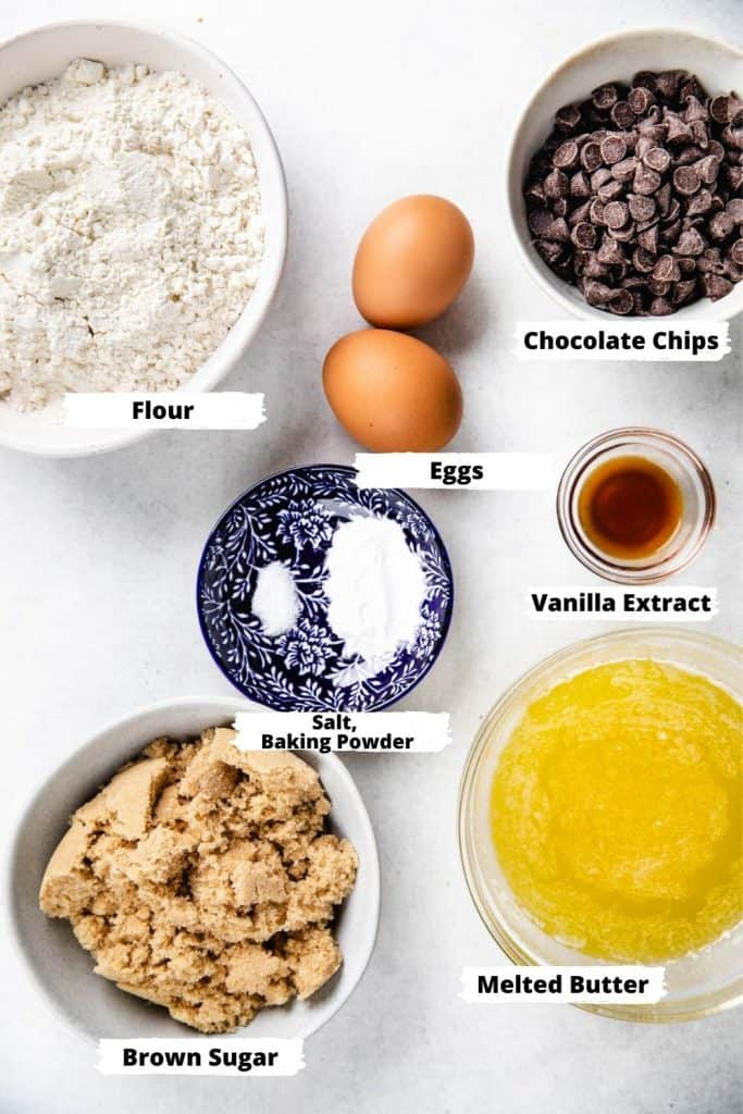 Ingredients for Chocolate Chip Blondies