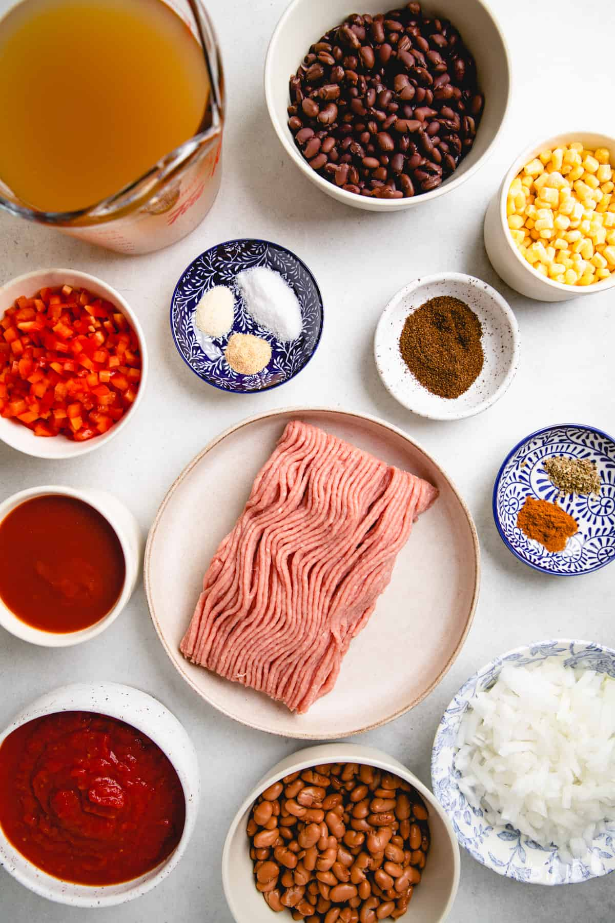 Ingredients for Instant Pot Taco Soup.