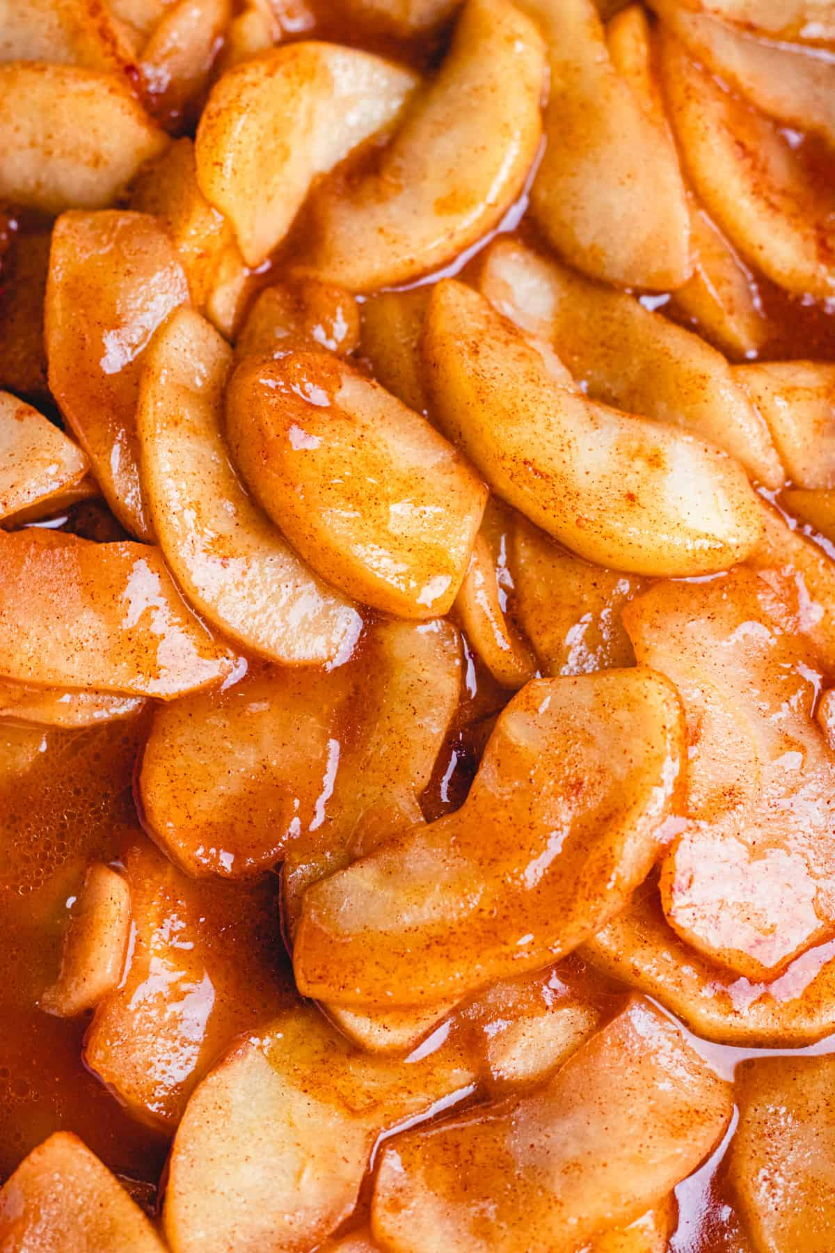 Cinnamon Baked Apples in caramelized sauce.